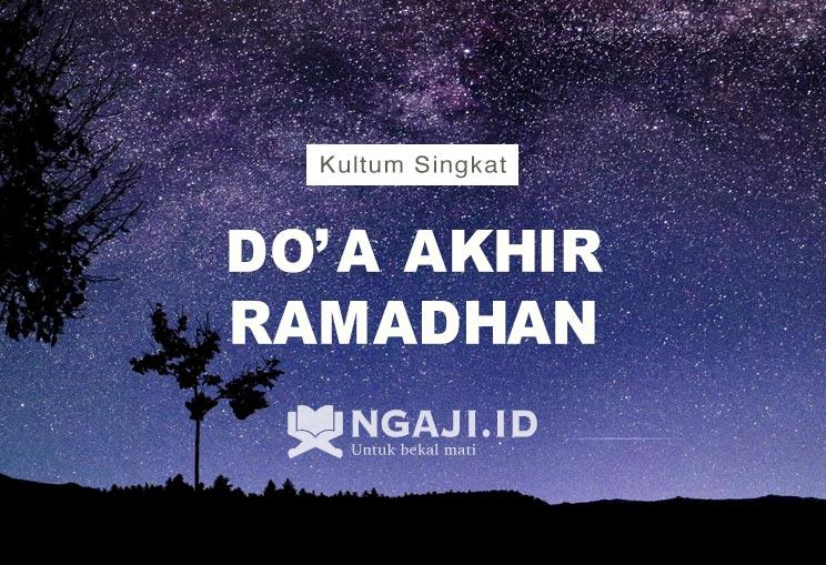 Kultum Singkat dan Doa Akhir Ramadhan