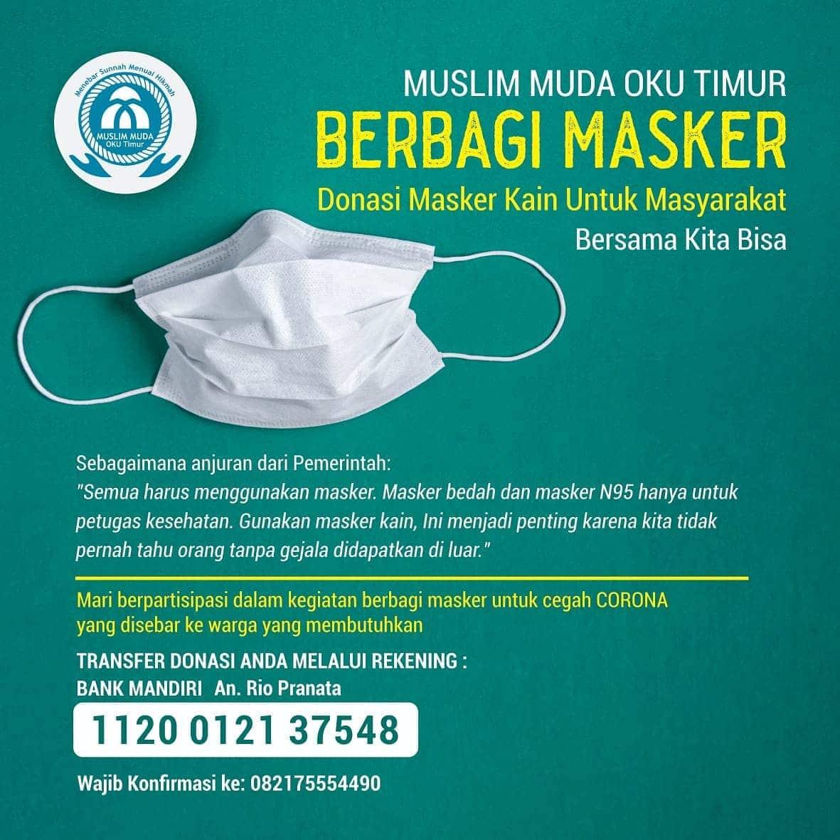 Donasi Masker Kain Untuk Masyarakat